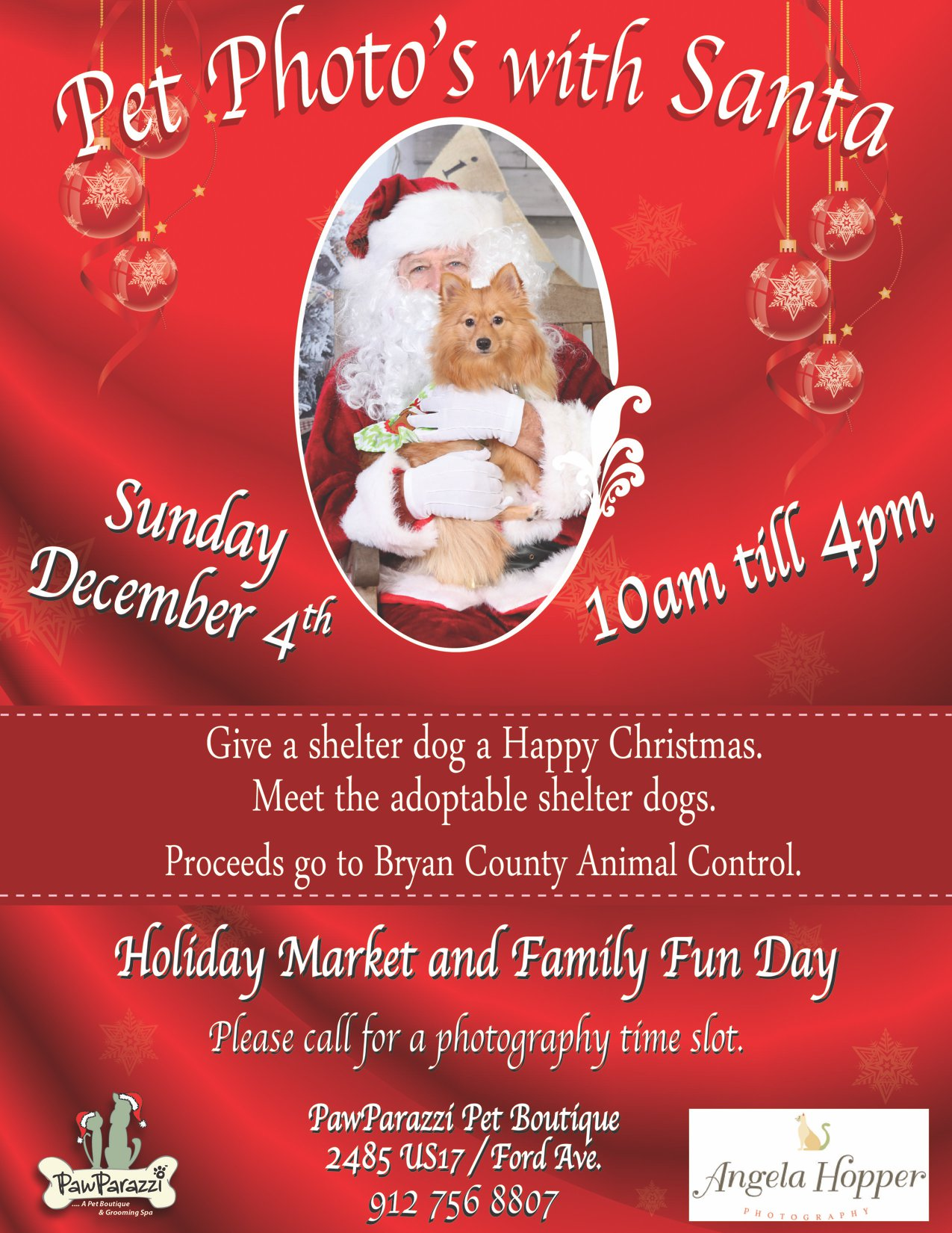 Pet Santa Photos | Santa Photos With Your Pet | Pet Santa Pictures| Richmond Hill GA 31324